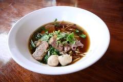 Het Aziatische recept van de rijstnoedel Stock Afbeeldingen