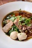 Het Aziatische recept van de rijstnoedel Stock Foto's