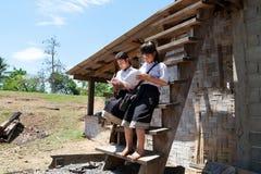 Het Aziatische studenten leren Stock Foto