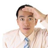 Het Aziatische uitvoerende kijken stock fotografie