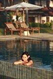 Het Aziatische vrouw Glimlachen Royalty-vrije Stock Afbeeldingen