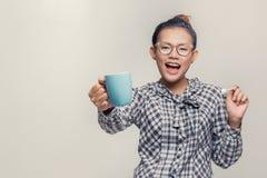 Het Aziatische vrouw glimlachen Stock Afbeelding