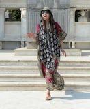 Het Aziatische vrouw lachen Royalty-vrije Stock Fotografie
