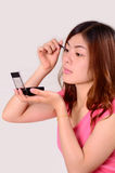 Het Aziatische vrouwen tienergezicht maakt omhoog Royalty-vrije Stock Foto's
