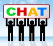 Het babbelen het Praatje betekent Boodschapper Communicating And Call stock illustratie