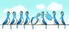 Het babbelen vogels Royalty-vrije Stock Foto