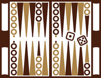 Het backgammonspel met dobbelt Stock Fotografie