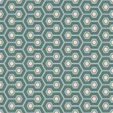 Het background De blauwe kleuren herhaalden hexagon tegelsbehang Naadloos patroon met klassiek geometrisch ornament vector illustratie