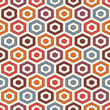 Het background De levendige kleuren herhaalden hexagon tegelsbehang Naadloos patroon met klassiek geometrisch ornament Stock Foto's