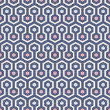Het background De pastelkleuren herhaalden hexagon tegelsbehang Naadloos patroon met klassiek geometrisch ornament Royalty-vrije Stock Foto