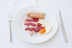 Het bacon en het ei van het ontbijt Stock Afbeelding