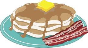 Het Bacon van pannekoeken Stock Afbeeldingen
