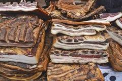 Het bacon is voor verkoop Royalty-vrije Stock Afbeeldingen