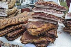 Het bacon is voor verkoop Stock Afbeeldingen