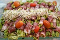 Het baconbroodje stock afbeeldingen