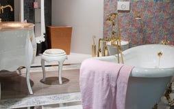 Het bad, binnenland, verfraait Stock Foto