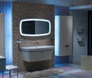 Het bad, binnenland, verfraait Royalty-vrije Stock Fotografie