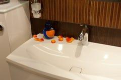 Het bad, binnenland, verfraait Stock Foto's
