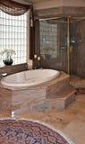 Het bad en de douche van de luxe Stock Fotografie