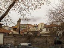 Het bad van Ankara Turkije in het historische district De historische bouw 'hamamonu 'in het centrum van Ankara stock fotografie