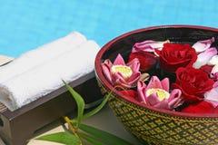 Het bad van de bloem Royalty-vrije Stock Afbeeldingen