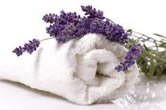 Het bad van de lavendel Royalty-vrije Stock Afbeeldingen