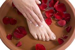 Het bad van de voet royalty-vrije stock foto's