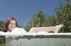 Het bad van de zomer Royalty-vrije Stock Afbeeldingen