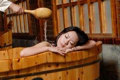 Het bad van het bloemblaadje royalty-vrije stock fotografie