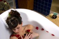 Het bad van het kuuroord Stock Fotografie