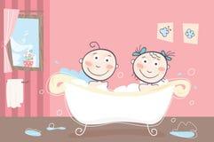 Het bad van kinderen stock illustratie
