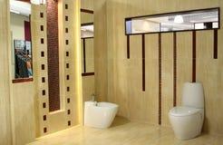 Het bad van Minimalism binnen van Stock Foto's