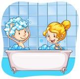 Het baden stock illustratie