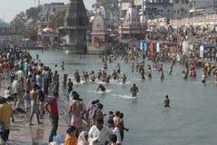 Het baden in Haridwar 4 Stock Foto's