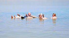 Het baden in het Dode Overzees Royalty-vrije Stock Foto