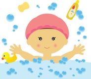 Het baden Pret (Meisje) Stock Afbeelding