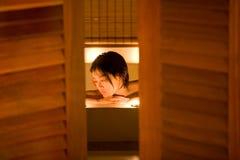 Het baden schoonheid Stock Afbeeldingen