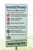 Het baden strand stock foto