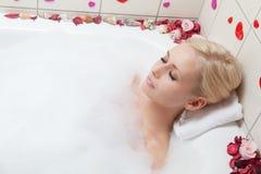Het baden van de vrouw Royalty-vrije Stock Fotografie