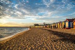 Het baden van dozen in Brighton Beach, Melbourne Royalty-vrije Stock Afbeelding
