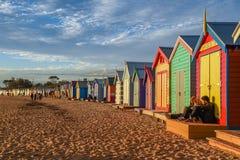 Het baden van dozen in Brighton Beach, Melbourne Royalty-vrije Stock Fotografie