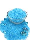 Het baden van het kuuroord zout en aromaoliën Royalty-vrije Stock Foto