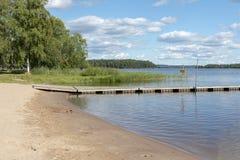 Het baden van plaats in Zweden Stock Foto's