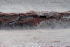 Het badgolf van het bloed Stock Afbeeldingen