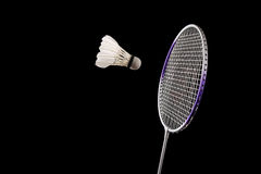Het badminton van de vangst royalty-vrije stock foto's