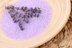 Het badzout van de lavendel Royalty-vrije Stock Afbeeldingen