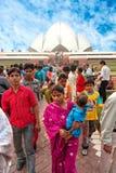 het Baha'i Huis van verering, New Delhi, India Stock Fotografie