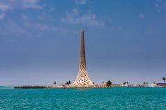 Het Baken, Koning Abdullah University van Wetenschap en Technologiecampus, Thuwal, Saudi-Arabië stock foto