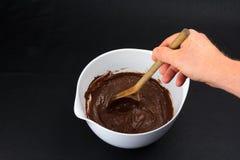 Het bakken brownies Stock Fotografie