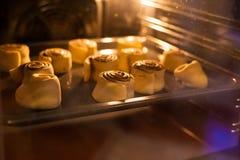 Het bakken in de oven royalty-vrije stock afbeeldingen